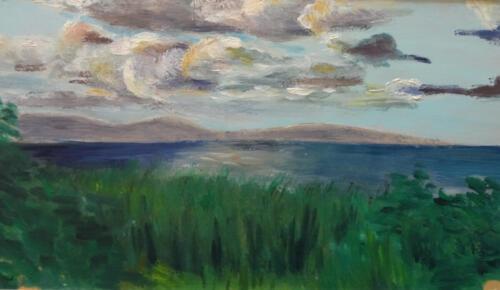 1961. Куршский залив. Вечер. Ветер, масло