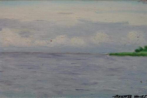 1965. Куршский залив, масло 2