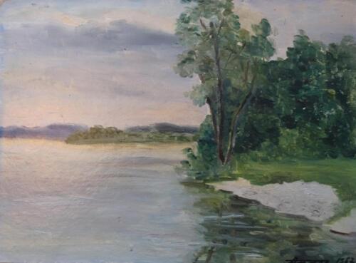 1967. Выштынецкое озеро, масло