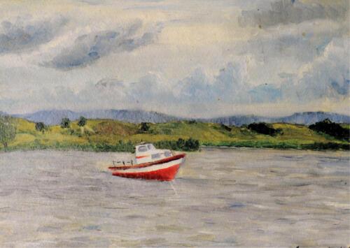 1967. Выштынецкое озеро, Калининградская область, масло