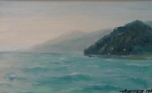 1967. Черное море у Хосты, масло