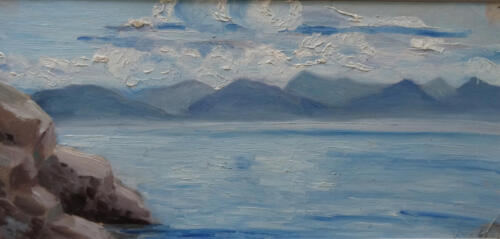 1969. Байкал у Лиственничного, масло