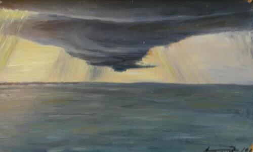 1969. Черное море. Смерч, масло