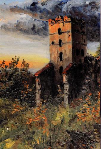 1971. Луцк. Башня Любарта 2, масло