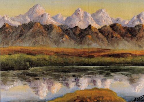 1976. Горы у Иссык-Куля, масло