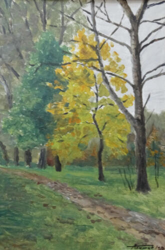 1980. Луцк. Парк, масло
