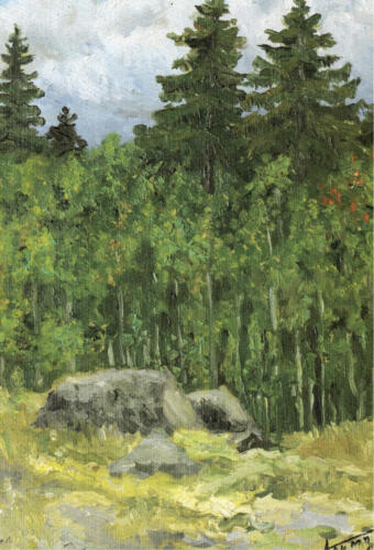 1989. Карелия. Лес у Акахарью, масло