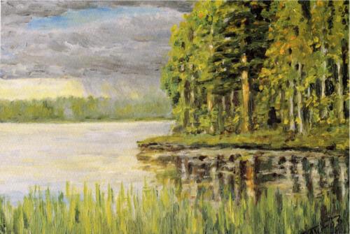 2001. Карелия. Ур-озеро, масло