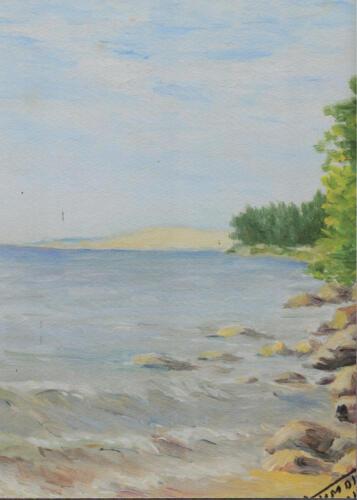 2001. Рыбачий. Залив. Дюны, масло