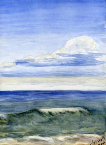 2004. Волна прибоя, акварель