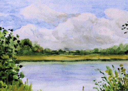 2009. Рыбачий. Чаечье озеро, акварель