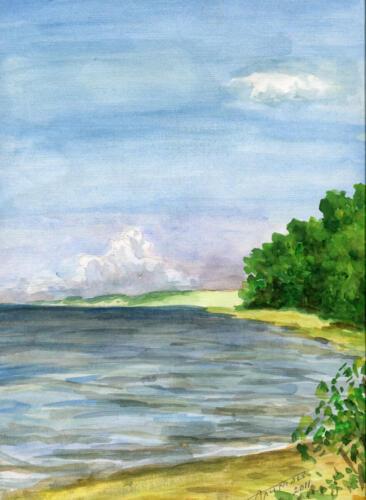 2011. Кушский залив, акварель